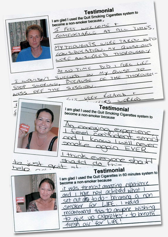 testimonials homepage Quit Smoking Brisbane